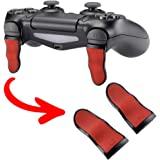 eXtremeRate L2 R2 Buttons Extention Trigger, Soft Touch Grip Extenders, Game Improvement Adjusters for Playstation 4 PS4…