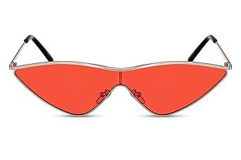 7c017cd67a34eb Cheapass Lunettes de soleil Femmes Dorées en Métal Style yeux de chat  Monture avec des Verres noirs Monopièce UV400  Amazon.fr  Vêtements et  accessoires