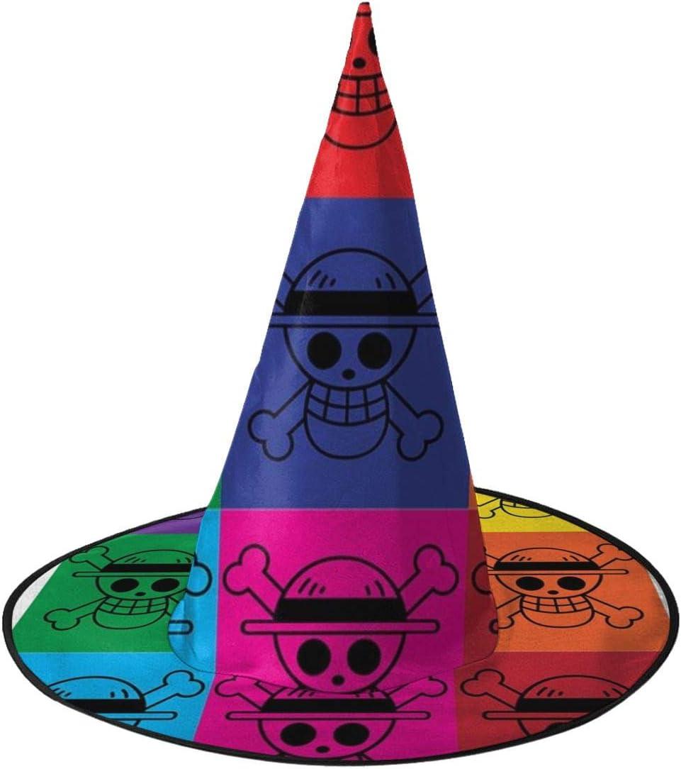 NUJSHF Scull and Crossbones Pop Art Sombrero de Bruja de una Pieza ...