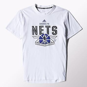 Adidas Brooklyn Nets Price PT Camiseta para Hombre Blanco/Negro Talla: S - 46: Amazon.es: Deportes y aire libre