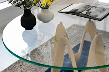 Glass Table Top: 60u0026quot; Round, 1/4u0026quot; Thick, Beveled Edge