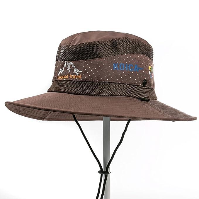 cbbd69c7be2b3 Casquillo de la montaña del sol de los hombres Visera Sombrero para el  sol Al aire libre pescador sombrero-D  Amazon.es  Ropa y accesorios