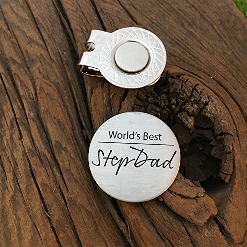 338ede263cd Amazon.com  Worlds Best Stepdad Golf Ball Marker Dad Gift For My Stepdad  Gift For My Favorite Stepdad Gift For Greatest Stepdad Ever Golf Ball  Marker  ...