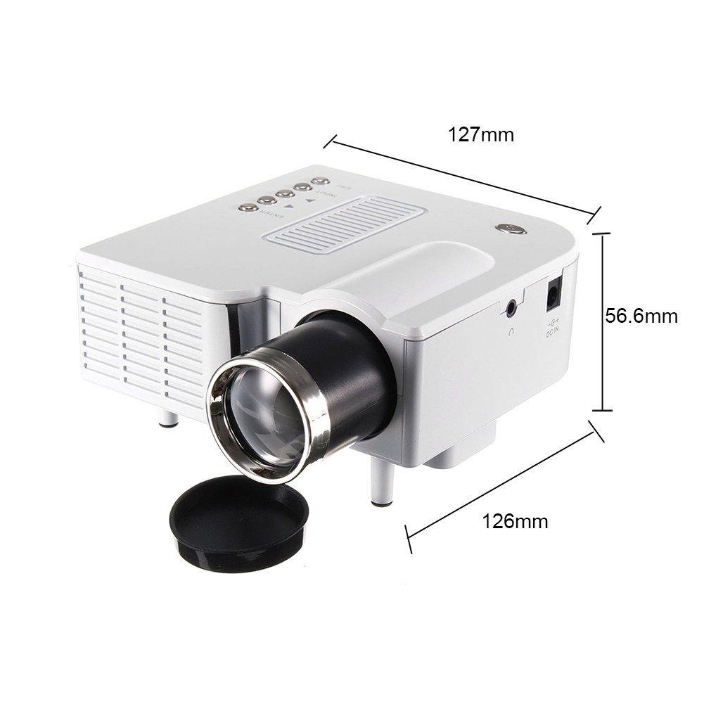Starter Mini proyector, mini portátil 1080P Full HD 3D proyector ...