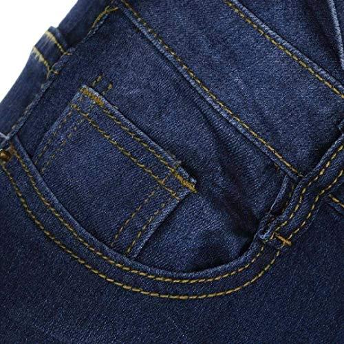 Colour Pantalones Elásticos Media Alta Vaqueros Cintura Delgados Ropa Estirados De Adelina 7nqdHUzvq