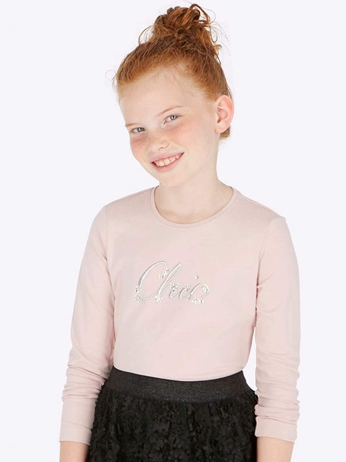 Mayoral Nude L//s Basic t-Shirt for Girls 0830