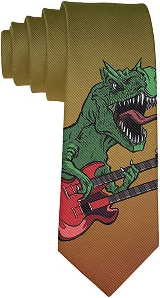 Corbata Corbatas divertidas Dinosaurios coloridos Guitarra ...