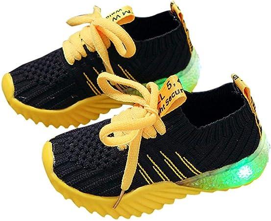 Womdee BéBé Chaussures LED Clignotants Lumineux, GarçOn Fille LED Chaussures,USB Rechargeable Chaussure Lumineuse De Sports Baskets Chaussures De