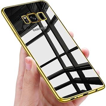 Samione Funda Galaxy S8 Plus, Carcasa Galaxy S8 Plus Silicona Funda Enchapado Tecnología Anti-Rasguño TPU Bumper Funda Case Cover para Samsung Galaxy ...