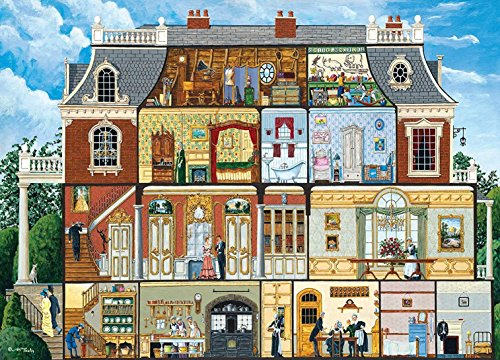House Piece Puzzle 1000 (MasterPieces Inside Out Walden Manor House Victorian Manor Jigsaw Puzzle by Art Poulin, 1000-Piece)