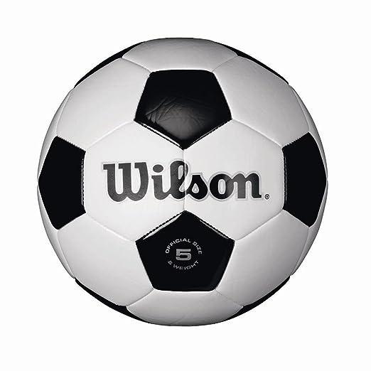 Wilson Tradicional balón de fútbol pbyxoa, 3 Unidades (tamaño 5 ...