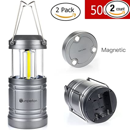 30 LED Lantern Camping Lights Outdoor 500Lm Portable Lamp Base 2 Pack Waterproof
