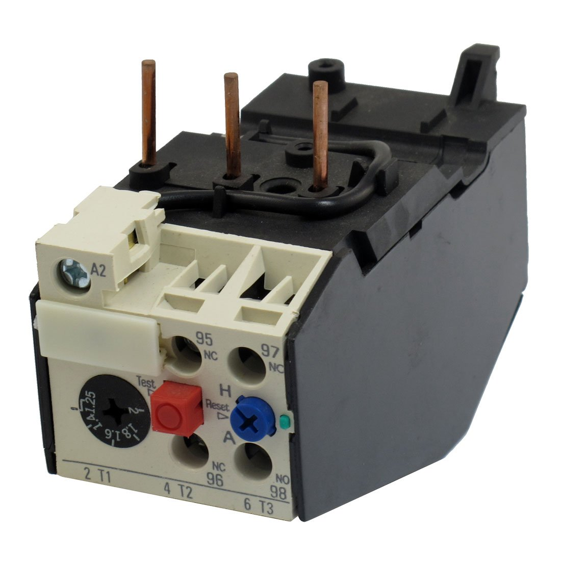 uxcell JRS2-25 2A 3 Pole 1.25-2A Current Range Motor Thermal Overload Relays