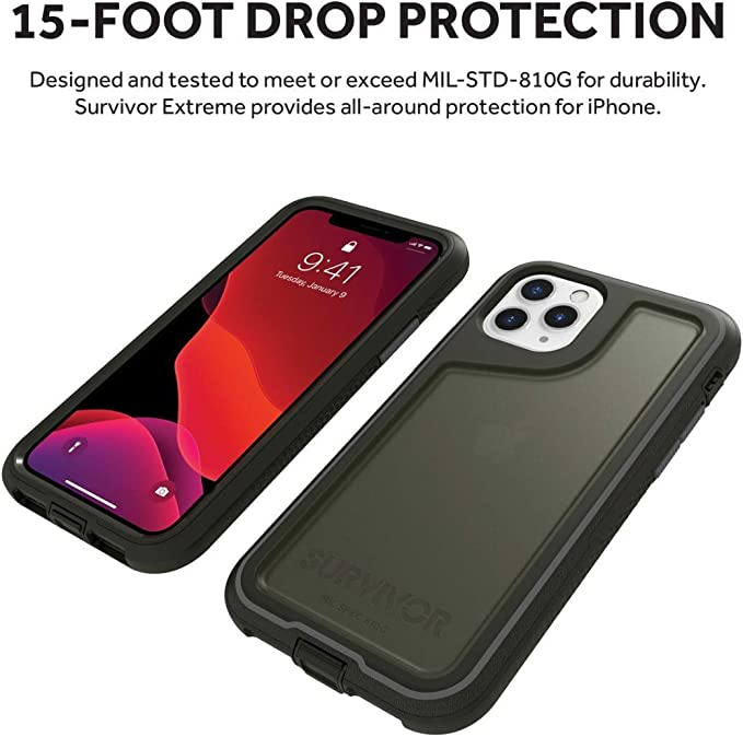 Griffin Technology Funda Survivor Extreme para iPhone 11 Pro Negra ...