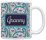 2 · Mother's Day Gift for Granny Birthday Gift Gift Coffee Mug Tea Cup Paisley
