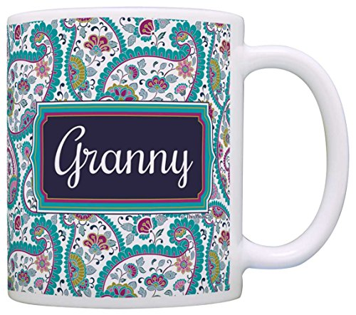 Mothers Granny Birthday Coffee Paisley