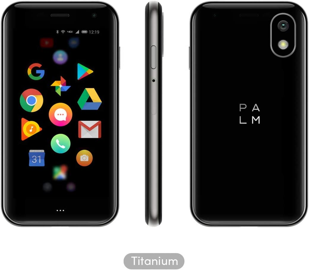 Palm Phone PVG100 (The Small Premium Unlocked Phone) with 32GB Memory and 12MP Camera (Titanium)