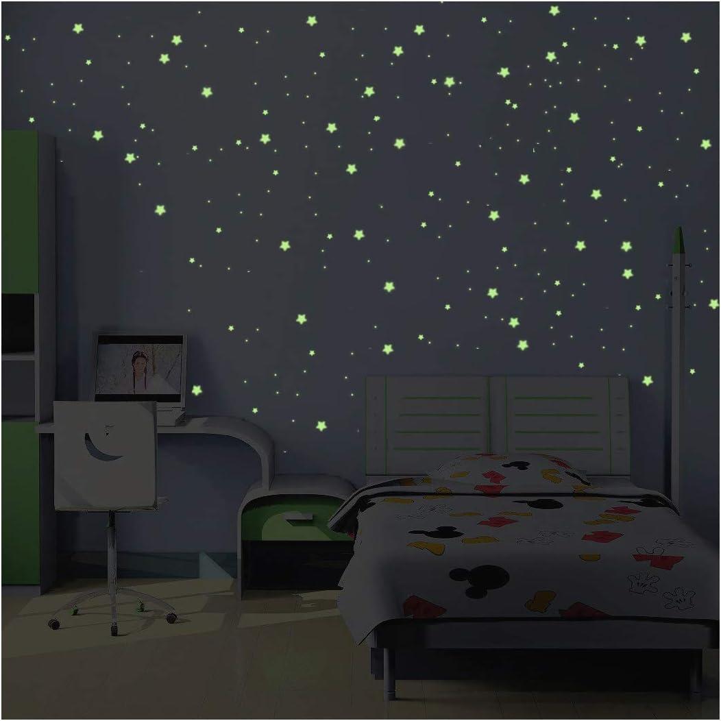 Stickers Voie Lactée Phosphorescente - 16 MINI étoiles et planètes