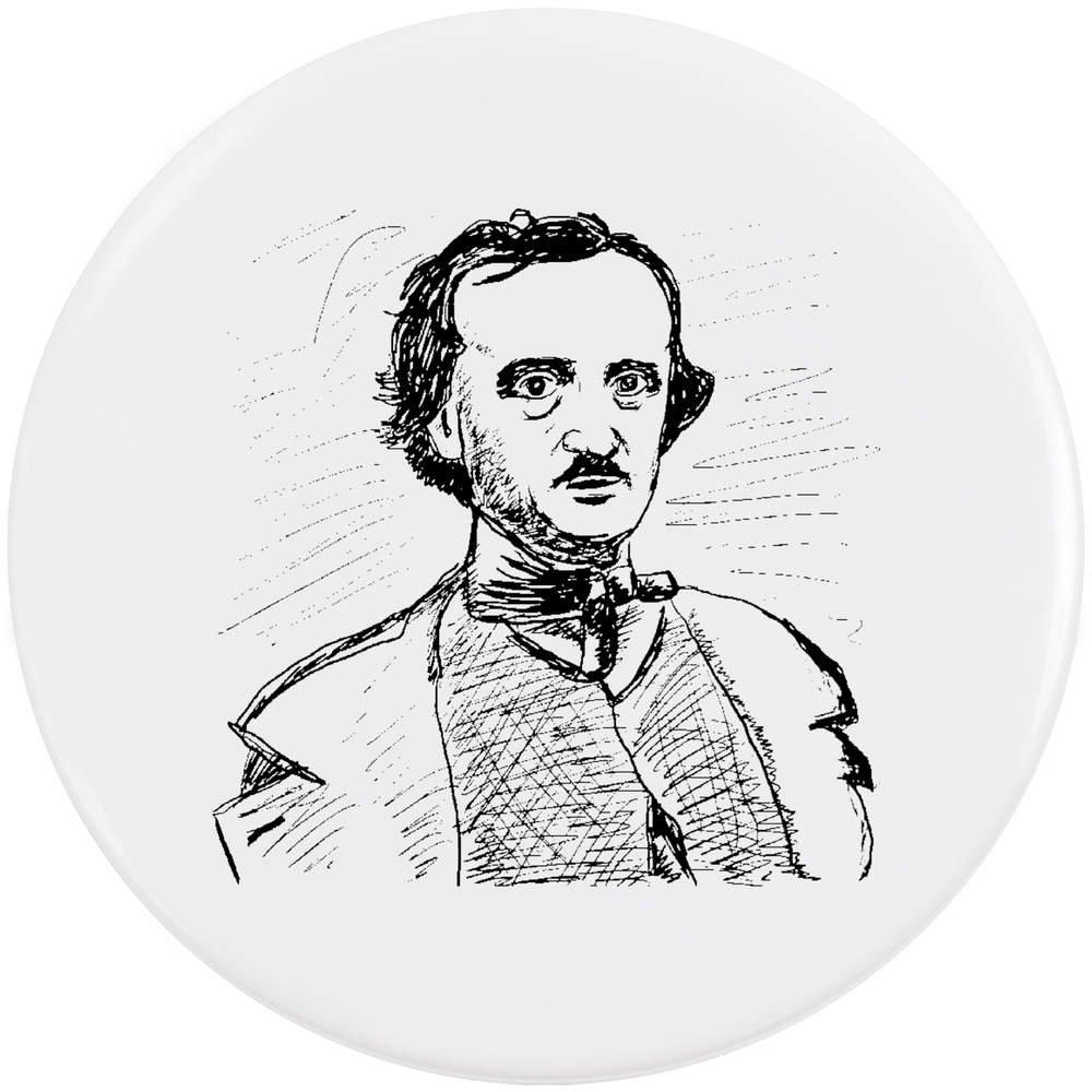 58mm 'Edgar Allen Poe' bouton de badge (BB00019320) Azeeda