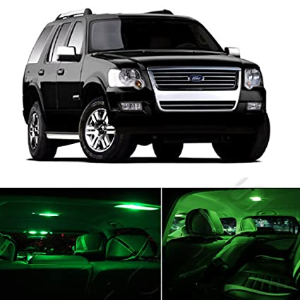 amazon com: cciyu 13x green led lamp bulb interior light package  replacement fit for replacement fit ford explorer 2002-2010 us: automotive