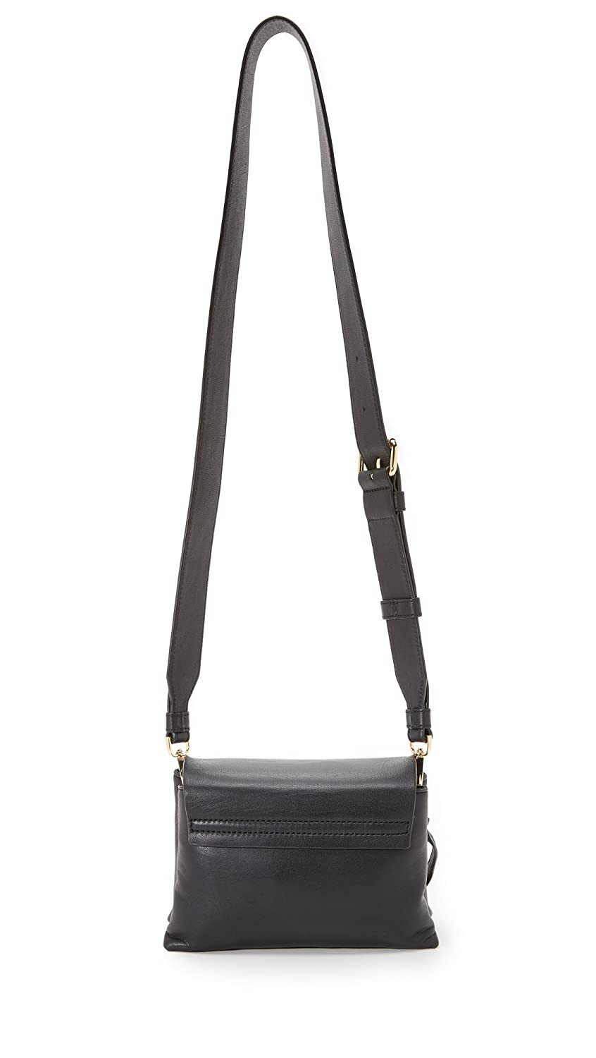 8128953583 DKNY Laura Black Leather Mini Front Flap Wide Strap Cross-Body Bag Black  Leather  Amazon.co.uk  Shoes   Bags