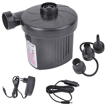 iCoco Bomba de aire eléctrica auto eléctrico Bomba Power Bomba Compresor con 3 Boquilla de aire