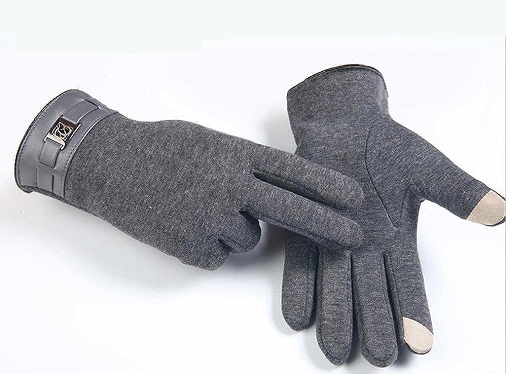 FranterdWinter Mens Full Finger Touch Screen Cashmere Gloves