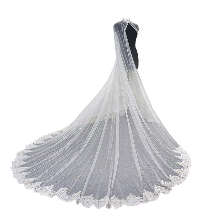 Amazon.com: Cibelle - Tapas de boda para novia, tul, encaje ...