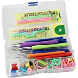 Generic Knitting Crochet Hook Tools Accessories Supplies With Case Knit Kit