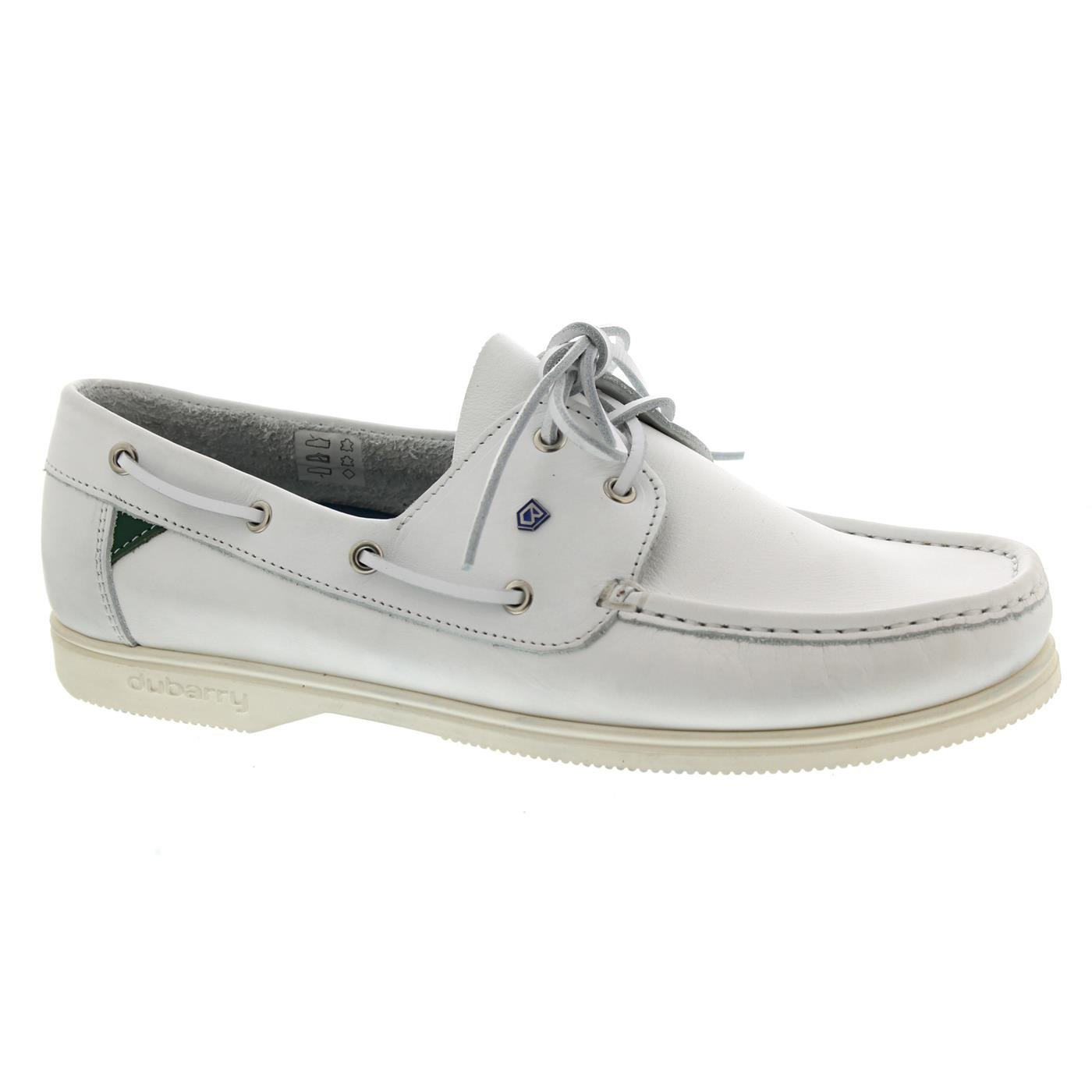 Dubarry Admirals, White, Dry Fast - Dry Soft Leder, (Glattleder) 3331-00  44 EU|Wei?