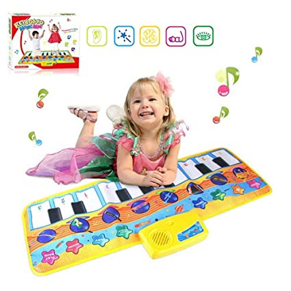 niolio Kids Piano Musical Mats, Colorful Dance Mat with 8 Musical  Instruments Mode, Kids Educational Learning Toy Gift for Toddlers Boys  Girls Age 2 3 ...
