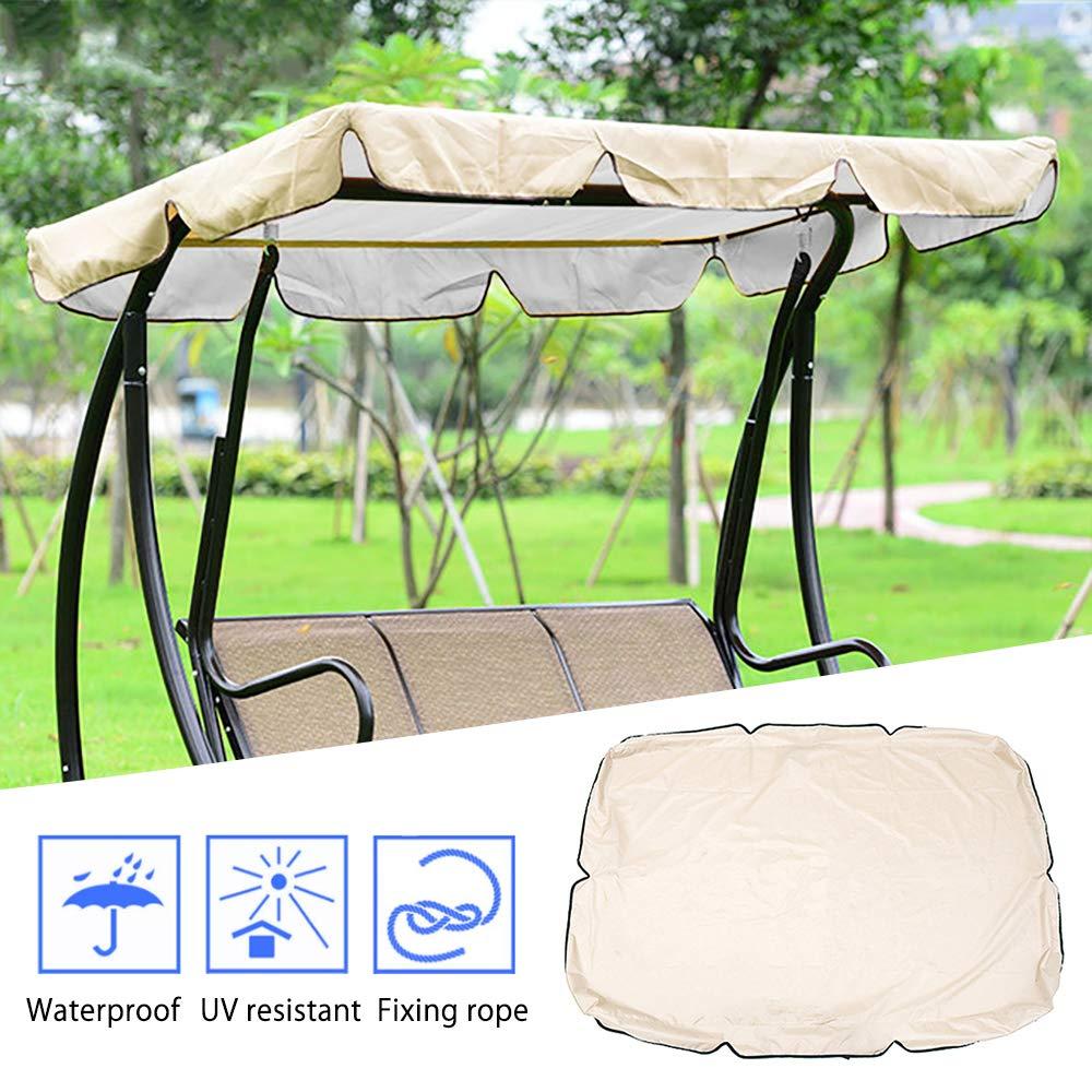 Garden Swing Seat Canopy Outdoor Swing Cover Waterproof Replacement Canopy Top Outdoor Swing Canopy Cover for Porch Patio Garden