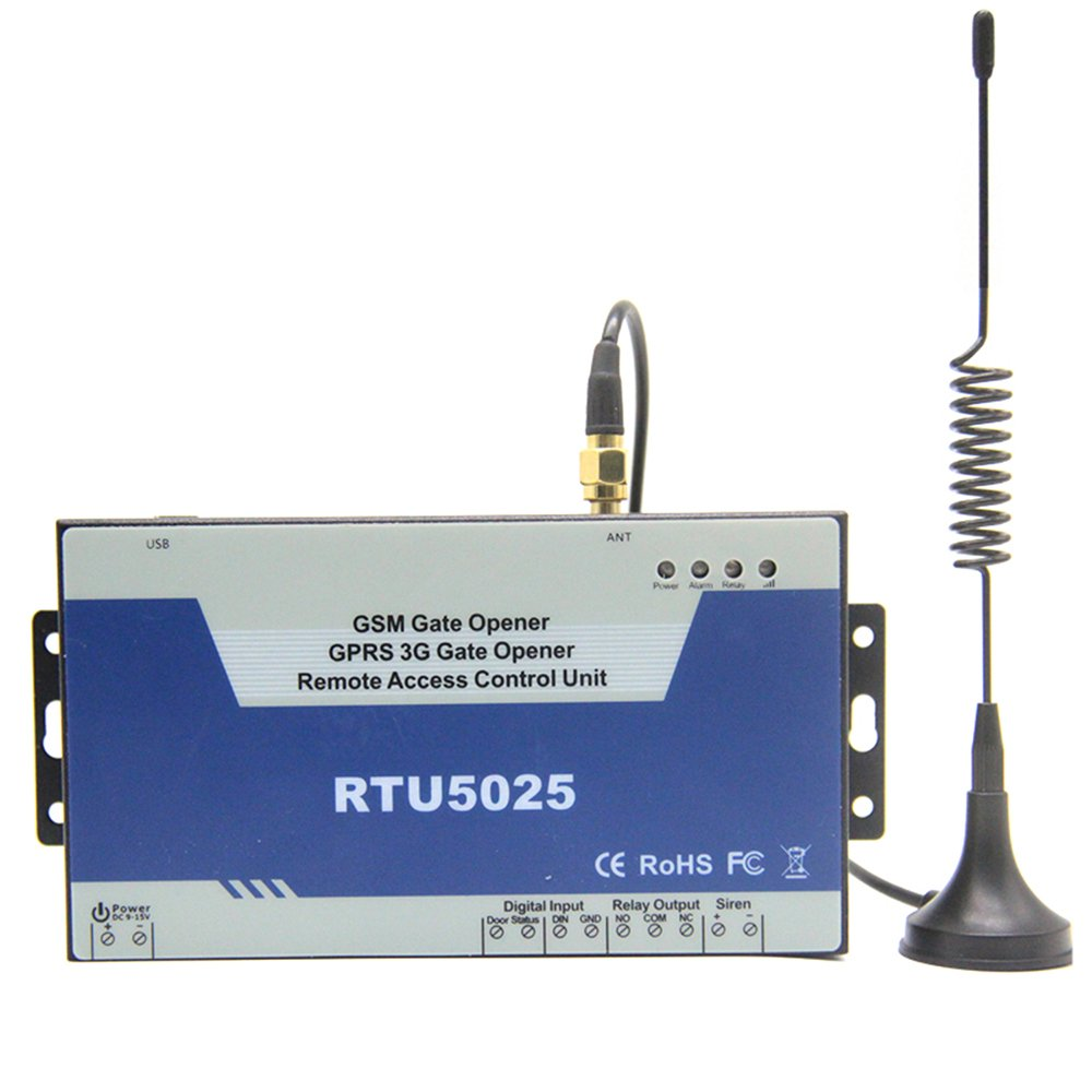 RTU5025 GSM 3G Gate Opener Senders GSM 3G Remote Switch Door Opener with  GSM Dial Control GSM GPRS 3G Remote Switch
