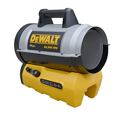 Amazon.com: DeWALT DXH70CFAV 68,000 BTU Cordless Forced Air Propane Heater: Home & Kitchen