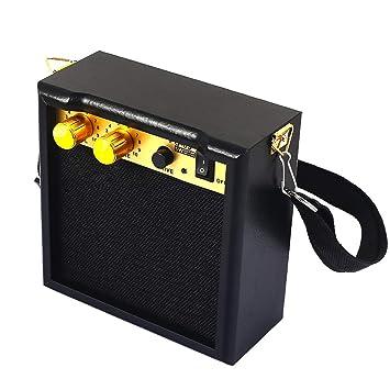 Xinzhi Guitarra eléctrica Altavoz-Amplificador de Guitarra eléctrica Amplificador portátil con Control de Tono de