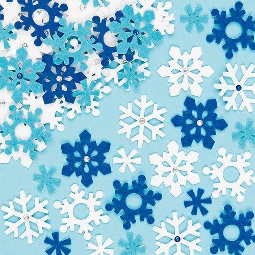 Baker Ross Felt Snowflake Stickers for Kids