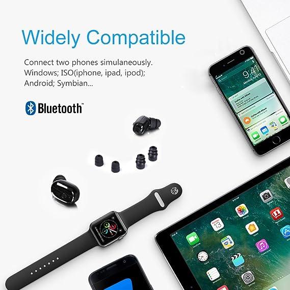 Auricular Bluetooth, Techstick Mini Bluetooth V4.2 auriculares Sport impermeable IP68 auriculares inalámbricos auriculares estéreo en el auricular auricular ...