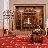 Stunning Majestic Four Piece Log Fire Collection - A Eye Catching Ensemble For The Home by Dibor