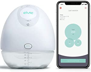 Elvie Pump Single Silent Wearable Breast Pump with App - Electric Hands-Free Portable Breast That Can Be Worn in-Bra