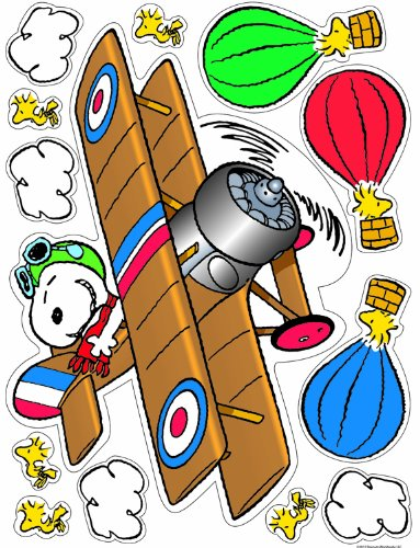 Eureka Peanuts Flying Ace Clings