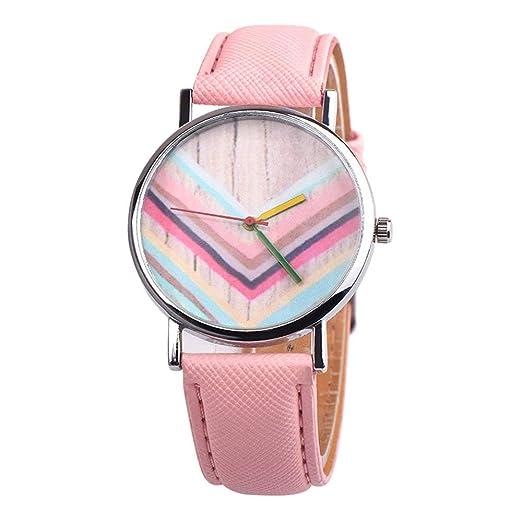 Rosepoem Reloj de Pulsera para Mujer Reloj de Cuarzo Elegante Informal PU Banda de Cuero Cuarzo para Damas Fiesta: Amazon.es: Relojes