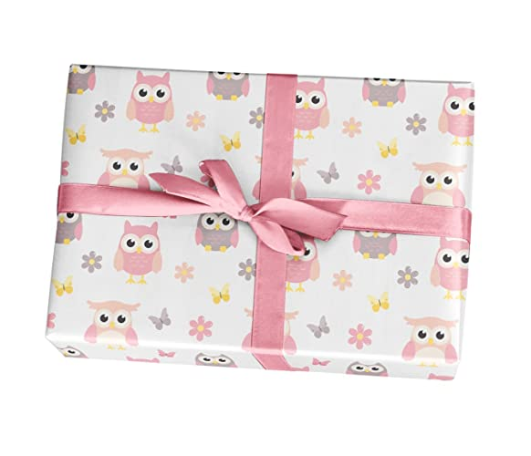 Amazon Owl Baby Shower Wrapping Paper Sheets 10 Pack Of 11x17