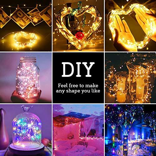 Tencoz Guirnalda Luces 10M 100 LED, Cadena de Luces LED USB Exteriores Interiores IP44 impermeable, Luces LED de Colores para Decoración Navidad Fiestas Bodas Jardin Habitacion(vistoso)
