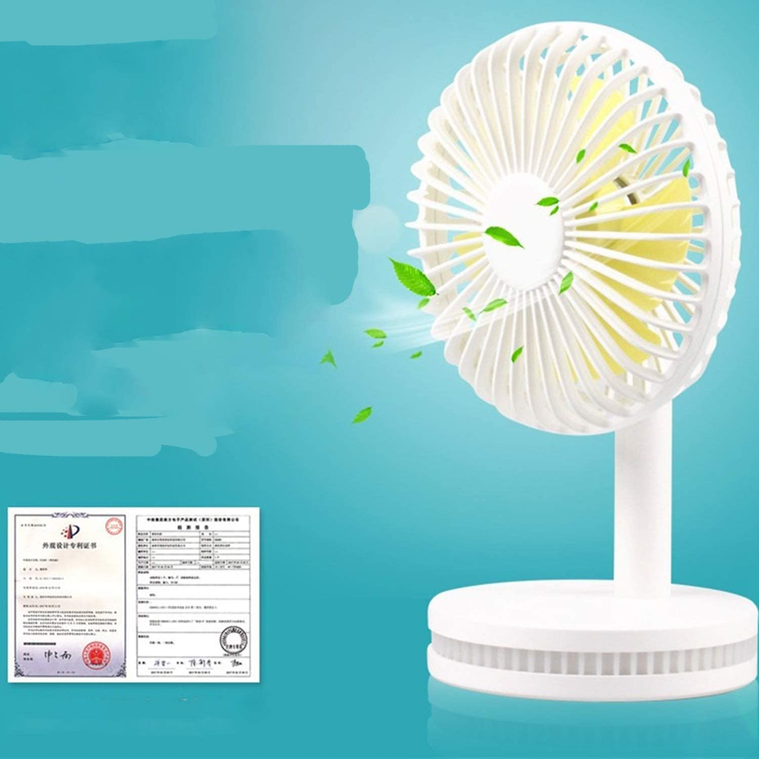 Outdoor Travel Shengjuanfeng USB Fans Fashion Fan Night Light Handheld Charging Table Small Fan Mini Portable USB Electric Fan for Home Office Color : Blue