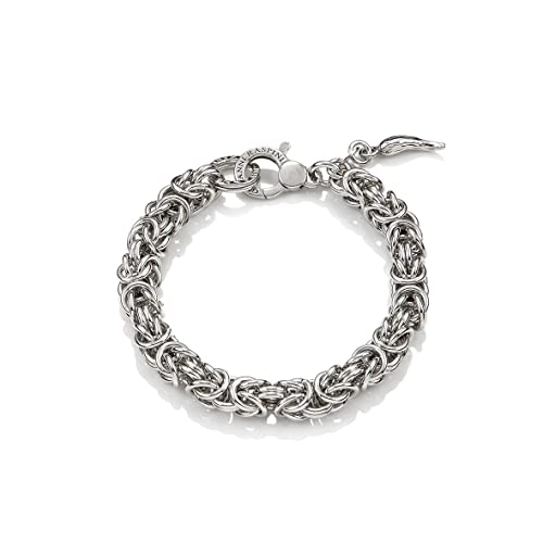 Vendita di liquidazione grande vendita vendite speciali Bracciale argento maglia Bizantina media Giovanni RASPINI