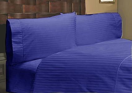 Algodón egipcio 650 thread-Count satén One sábana bajera ajustable y dos funda de almohada