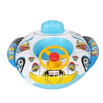 Flotador de Natación para Bebé Inflable Anillo de Natación Forma de Barco con Asiento para Niños Pequeños Infantil: Amazon.es: Juguetes y juegos
