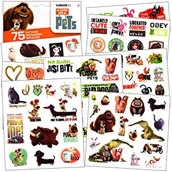Puppy Dog Party Favor Children\'s Temporary Tattoos - 72 pcs lovely ...