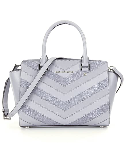 1383b81adaea MICHAEL Michael Kors Selma Medium Satchel (Dove )  Handbags  Amazon.com