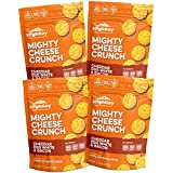 Cheddar & Bacon High Protein Cheese Crisps - Low Carb, Gluten Free Healthy Crunchy Cheese - Savory, Keto & Diet Friendly Baked Cheese with Natural Ingredients, Pack of 4, 2.25oz Bags